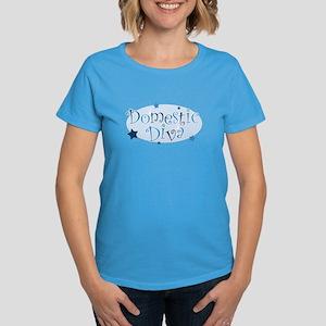 """Domestic Diva"" [blue] Women's Dark T-Shirt"